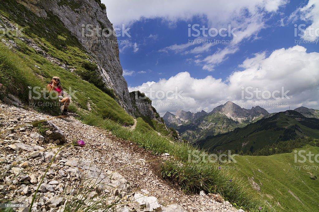 to the mount peak royalty-free stock photo