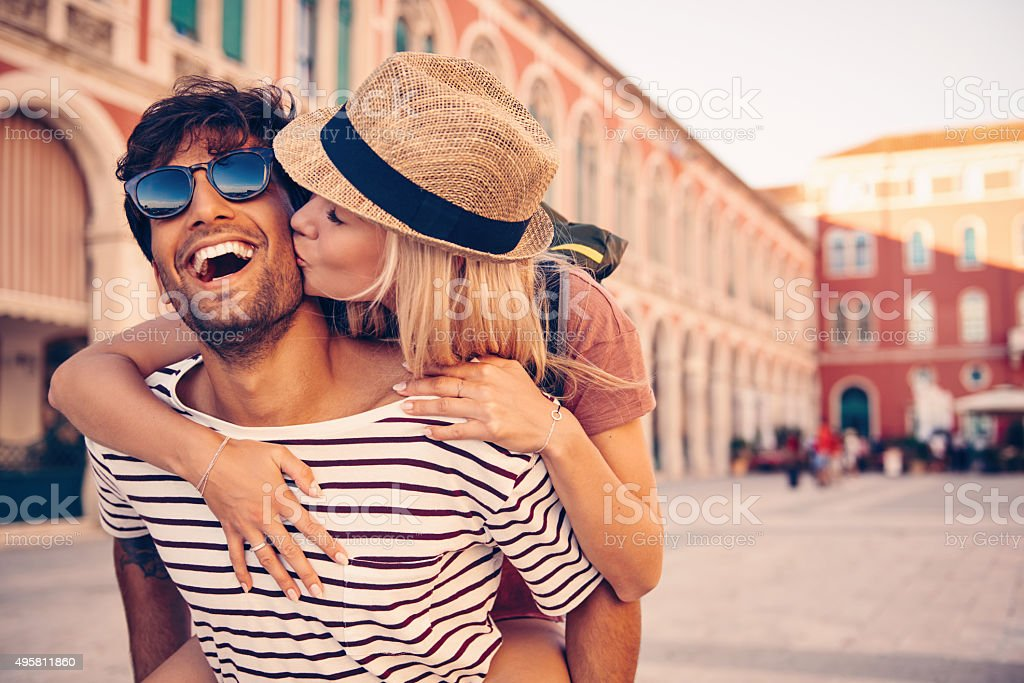 To travel is to follow your bliss stock photo