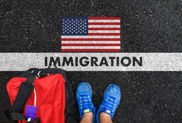 IMMIGRATION to United States stock photo