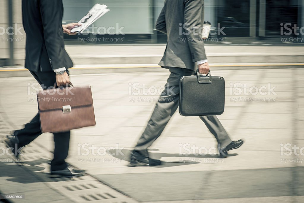 To work stock photo