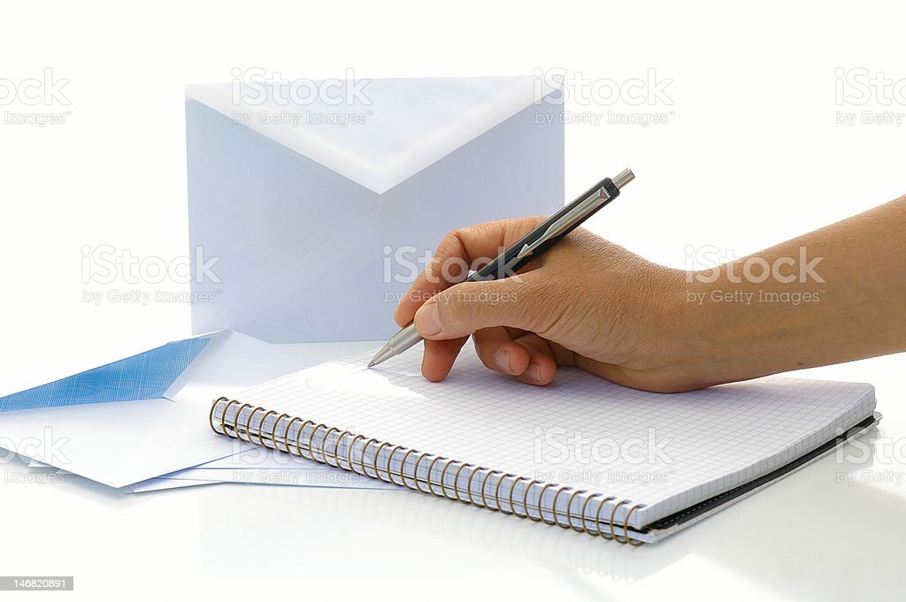 To write the letter royalty-free stock photo