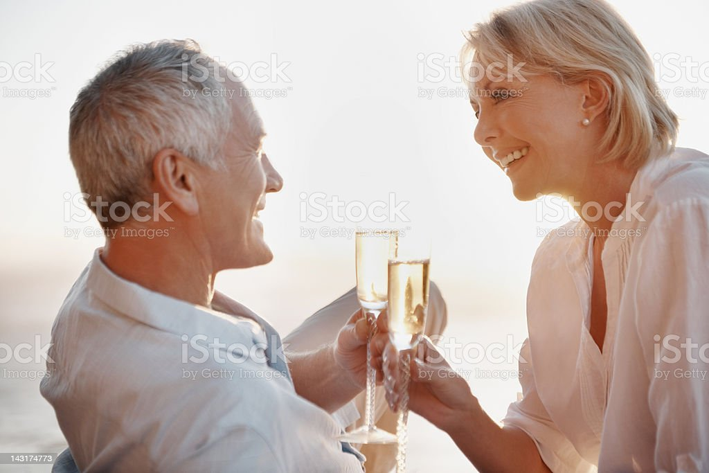 To years of happiness together royalty-free stock photo