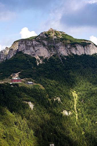 Toaca peak in Ceahlau mountains Romania Carpathians in the summer season