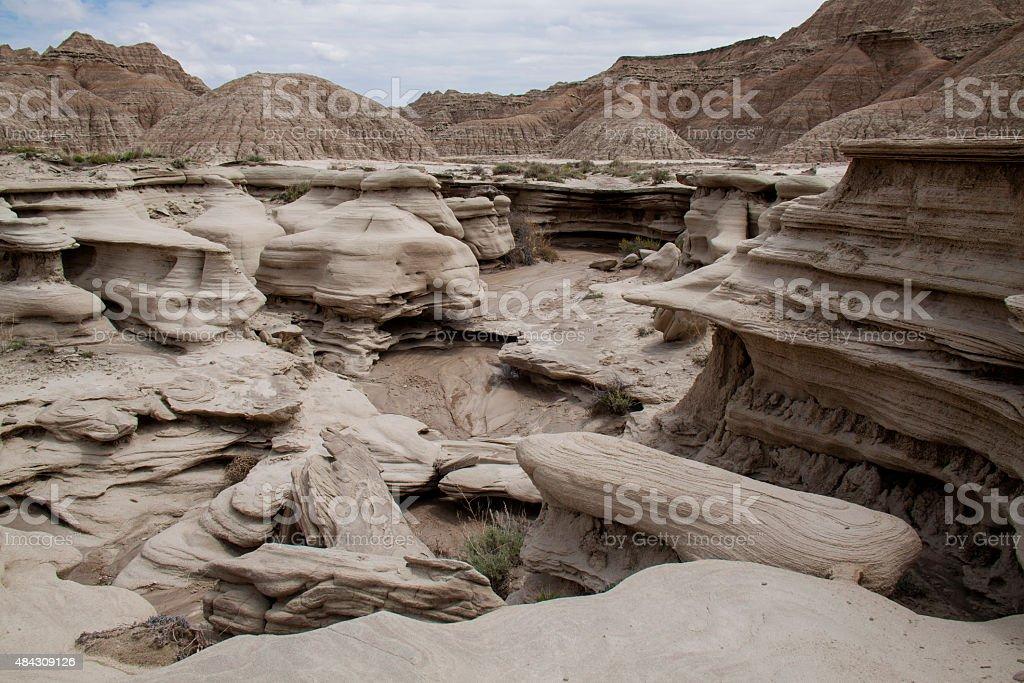 Toadstool Geologic Park, Nebraska stock photo