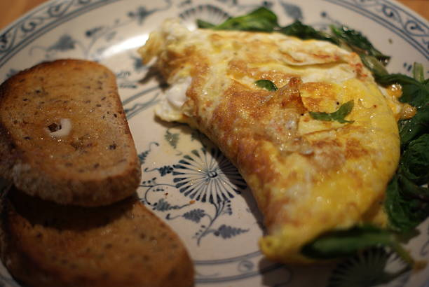 Toast and an Omelette stock photo