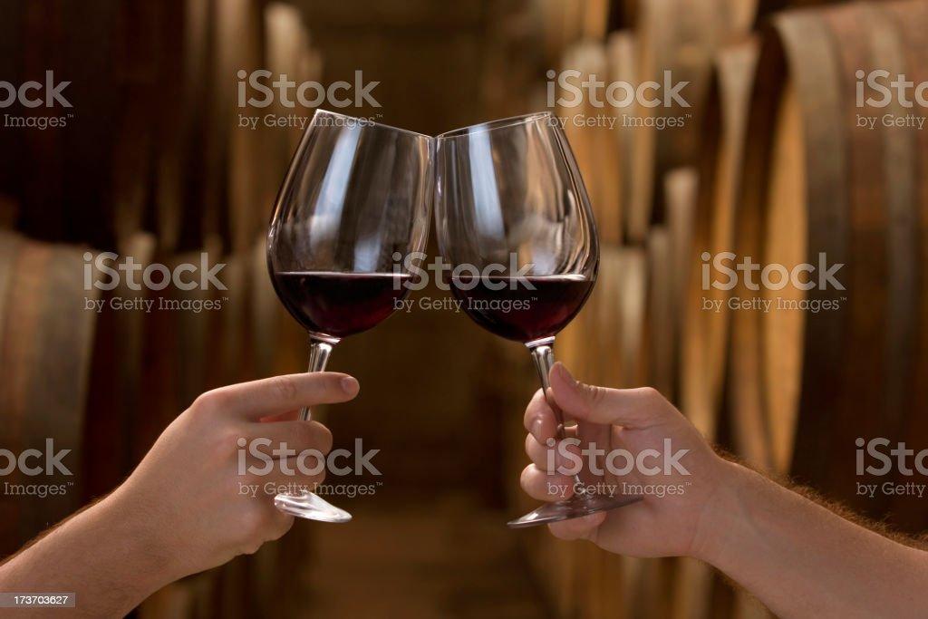 Toast at the cellar royalty-free stock photo
