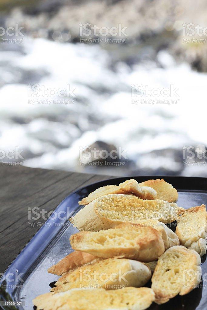 Pan tostado foto de stock libre de derechos