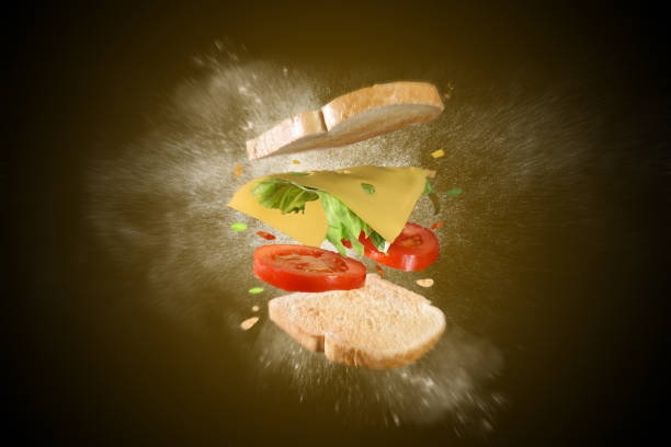 Toast exploded - foto stock