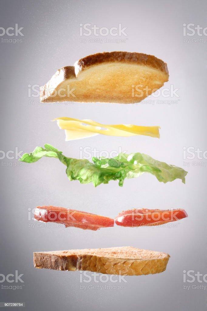 Toast explosion stock photo