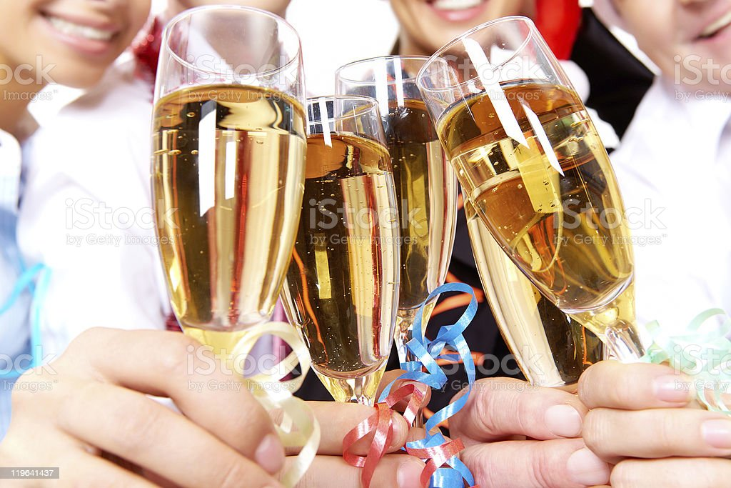 Toast for success royalty-free stock photo