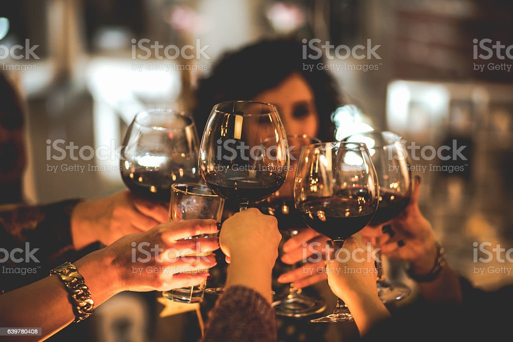 Toast for the bright future stock photo
