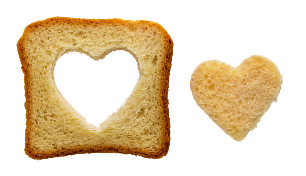 Cтоковое фото Toast heart shape
