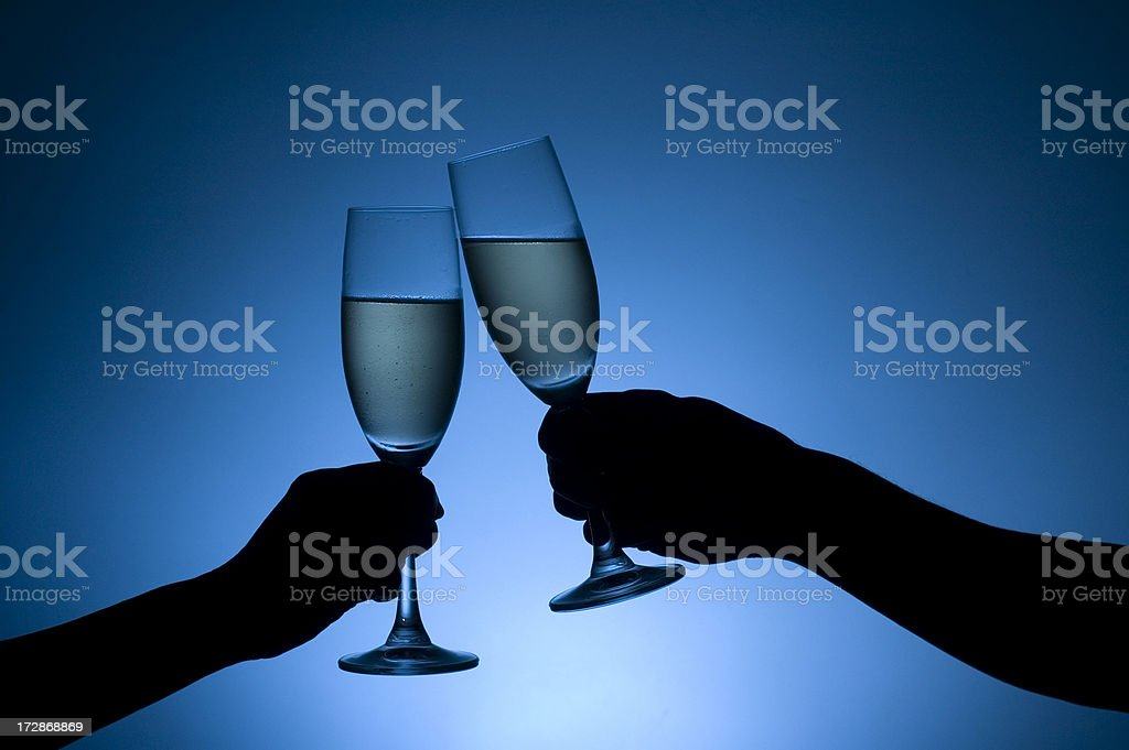 Toast in Blue royalty-free stock photo