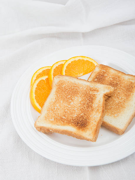 Toast no butter stock photo