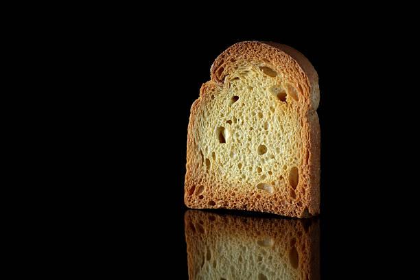 Toast on black stock photo