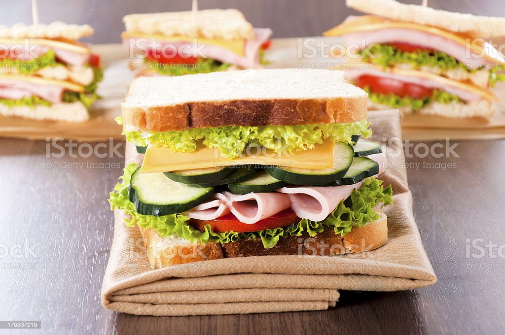 Toast sandwich royalty-free stock photo
