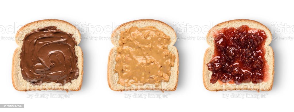 toast slices set stock photo