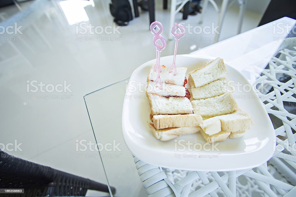 Toast stuffed royalty-free stock photo