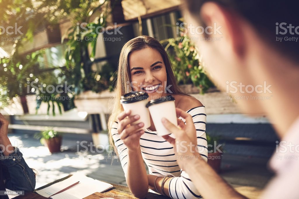Toast to having a great colleague royalty-free stock photo