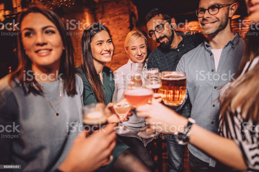 Toast to our friendship stock photo