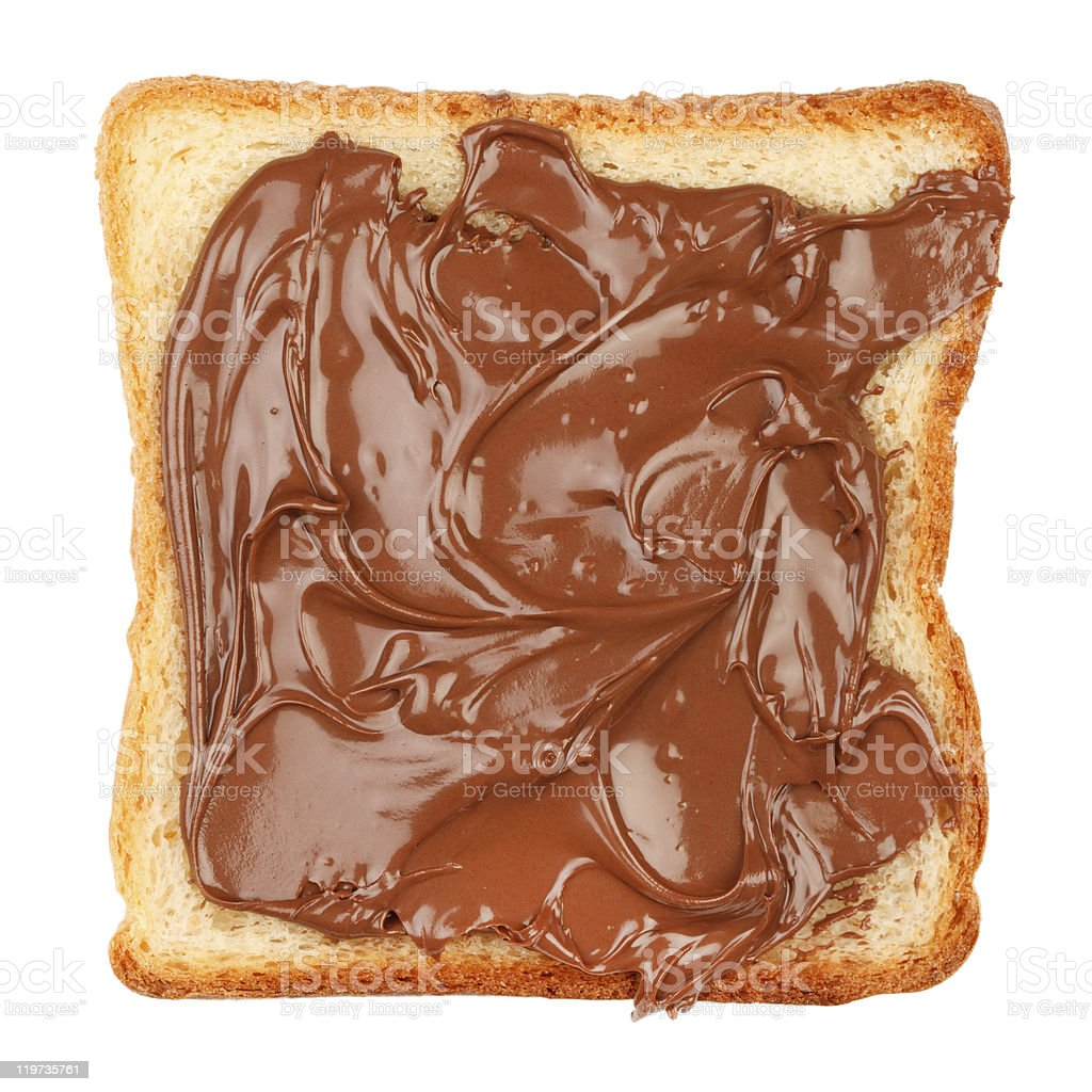 Toast with chocolate royalty-free stock photo