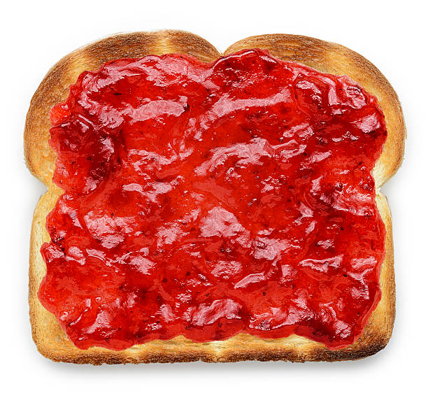 toast con marmellata - marmellata foto e immagini stock