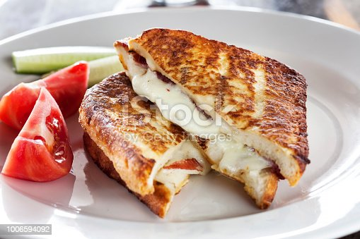 mozzarella and tomato,dough,pastry,milfoy,Toasted Bread