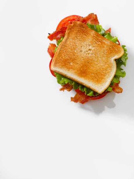 Toasted BLT Sandwich stock photo