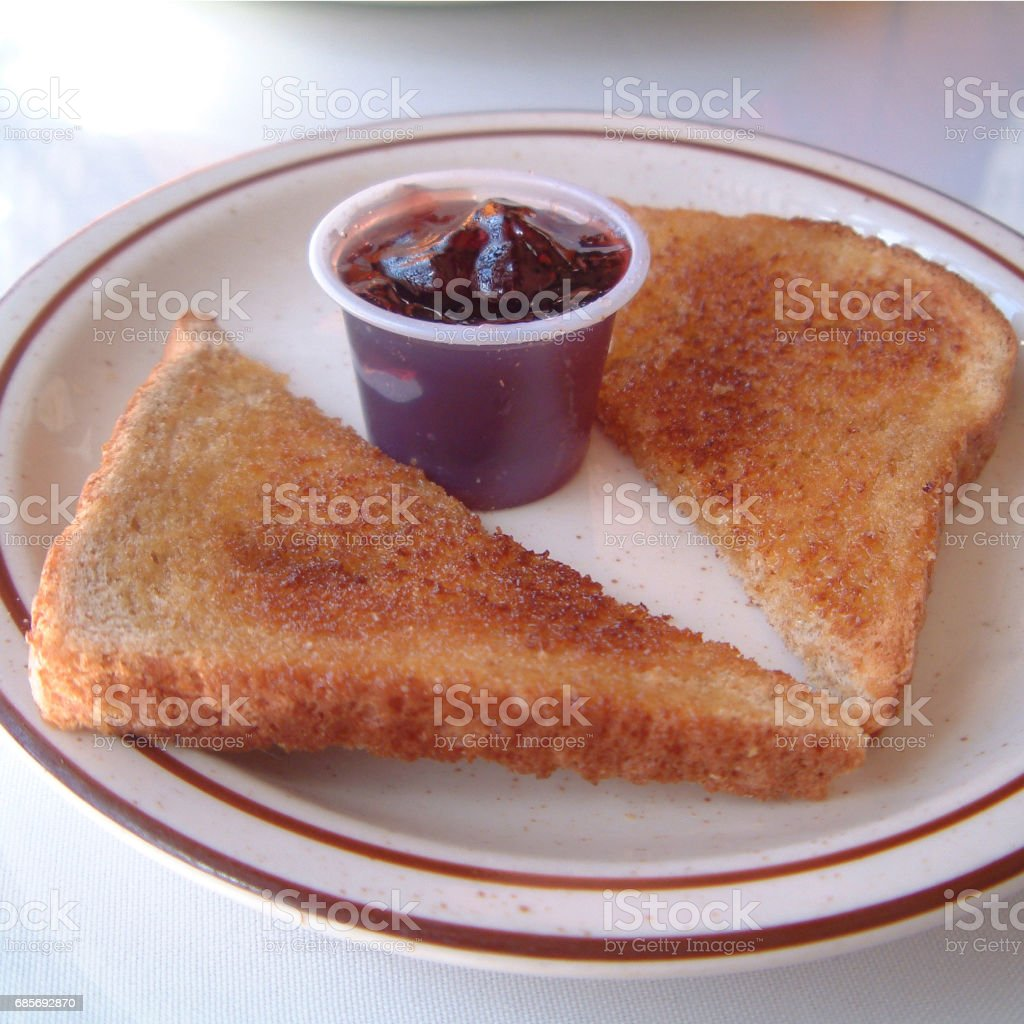 Toasted bread and jam 免版稅 stock photo