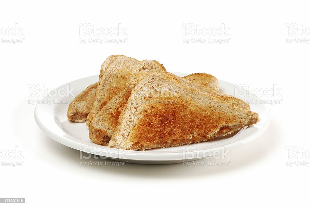 toasted bread royalty-free stock photo