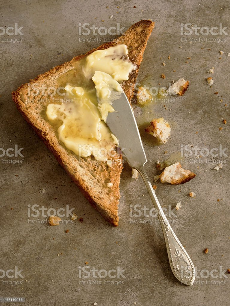 toasted butter royalty-free stock photo