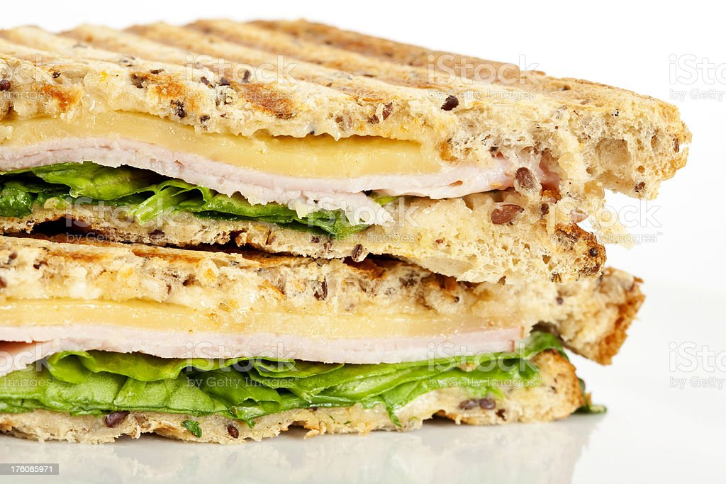 Toasted Cheese and Ham Sandwich royalty-free stock photo