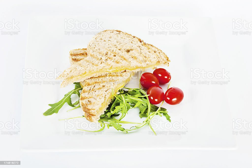 Toasted Cheese Sandwich royalty-free stock photo