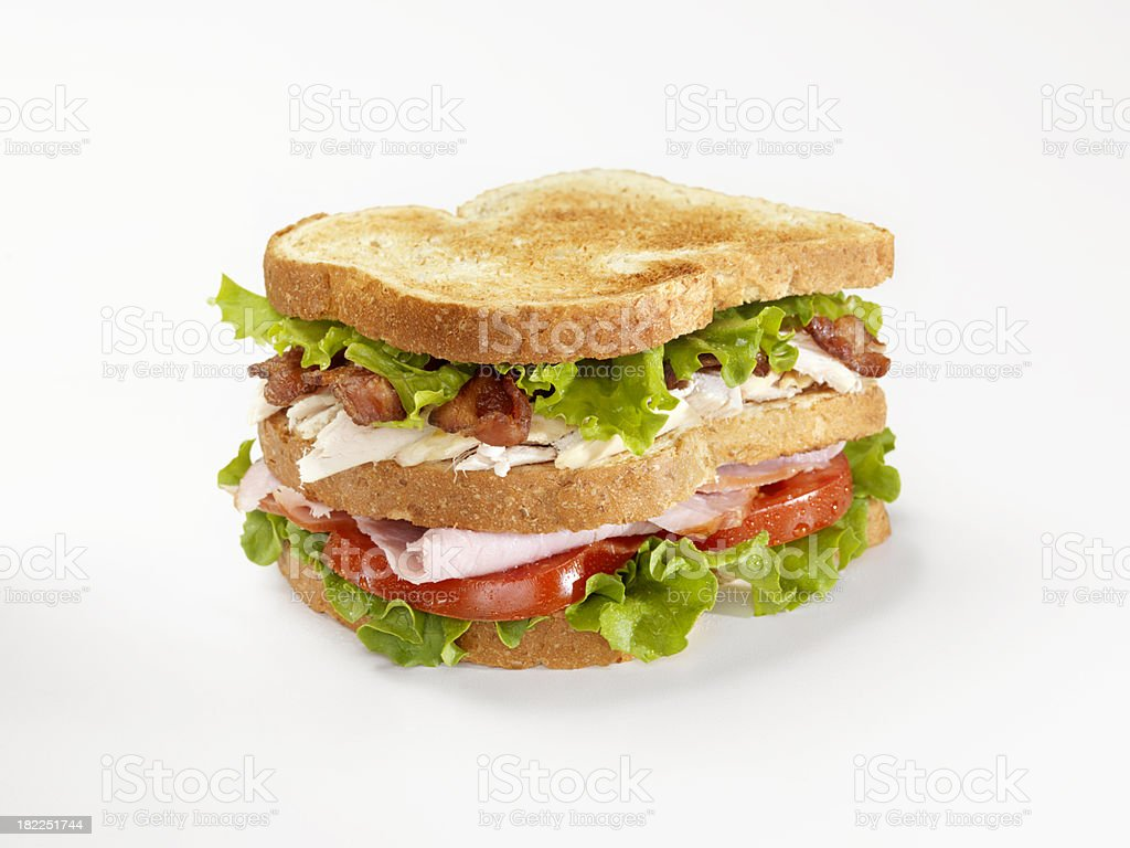 Toasted Club Sandwich stock photo