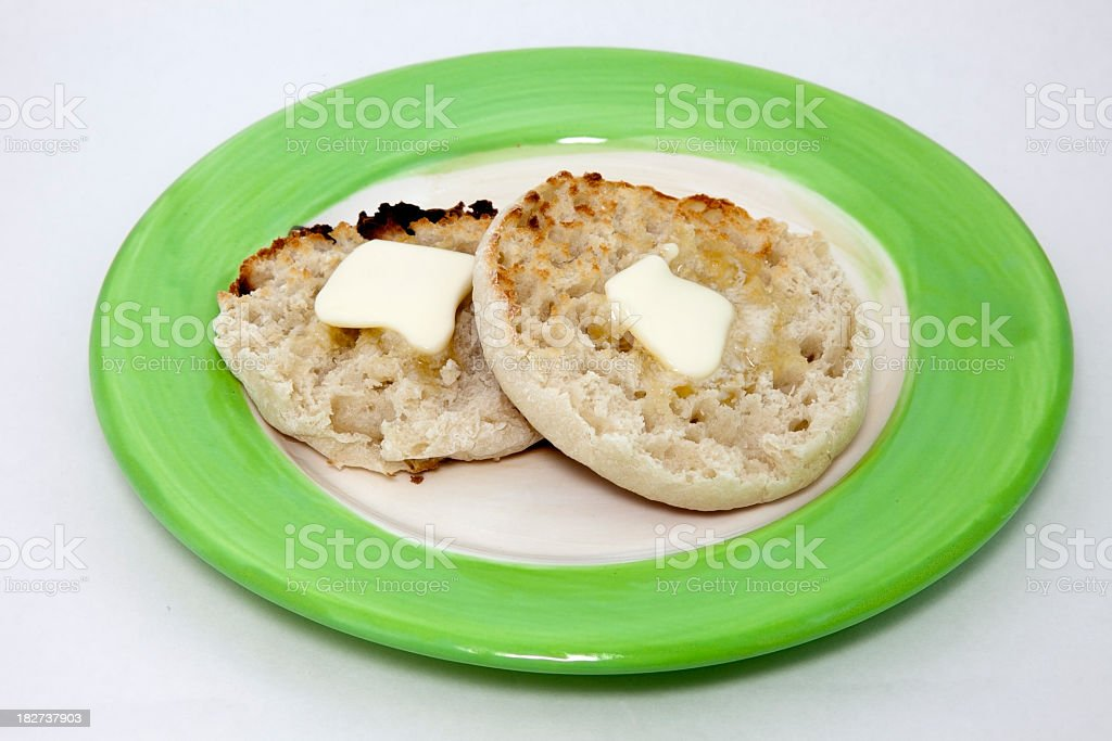 Toasted English Muffin stock photo