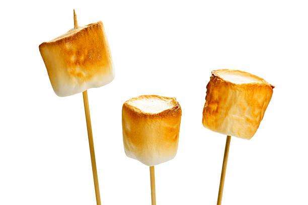 Toasted marshmallows stock photo