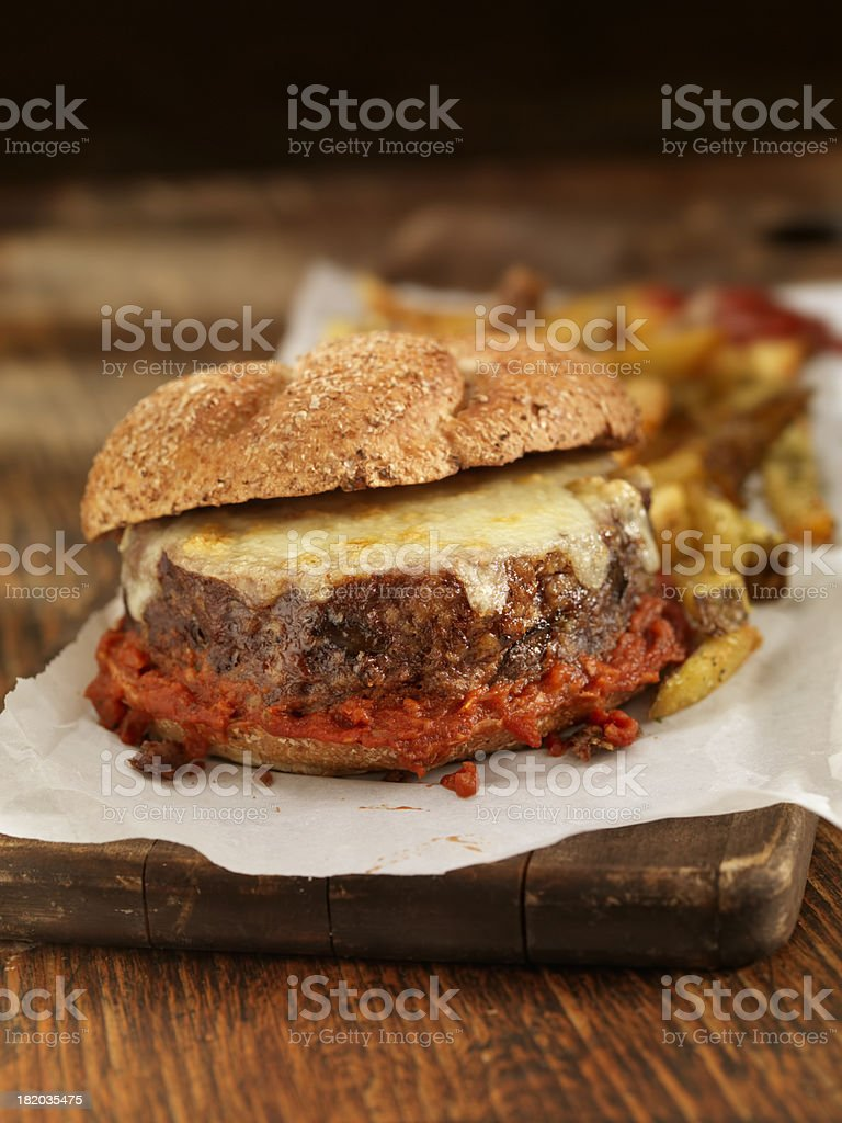 Toasted Meatloaf Sandwich royalty-free stock photo