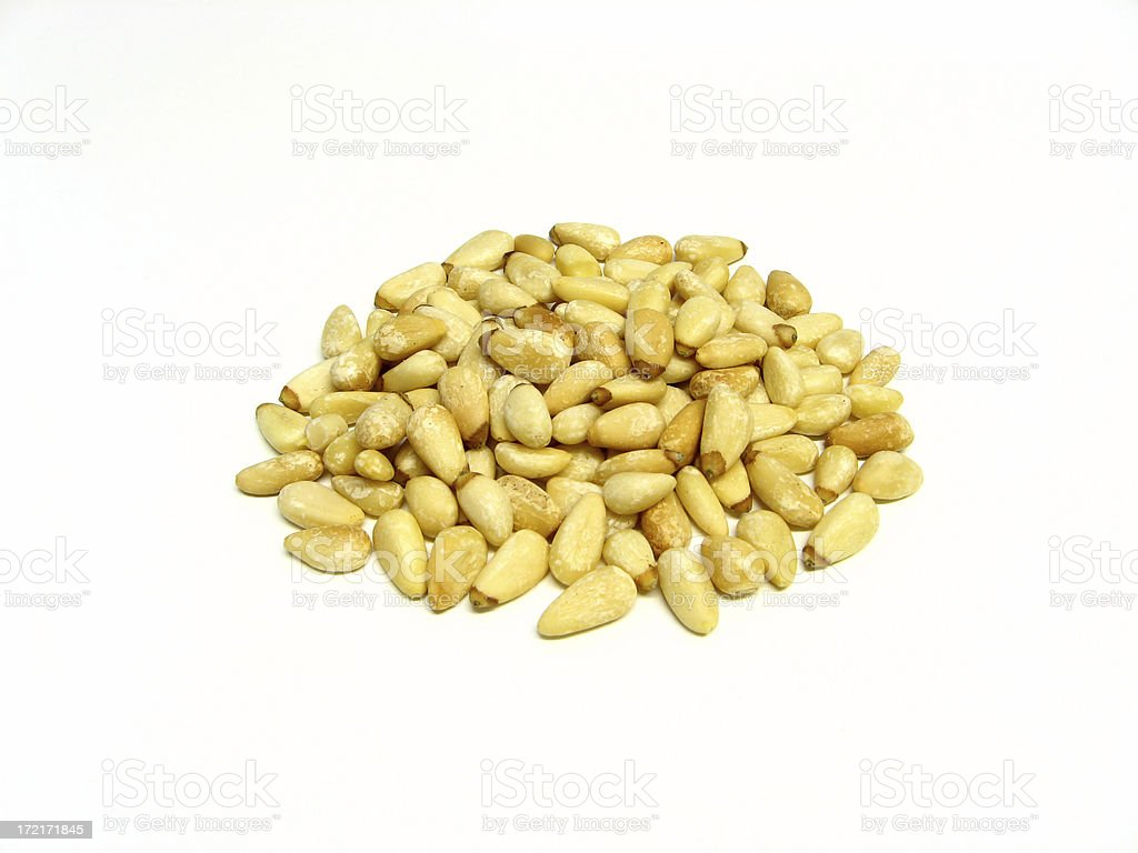 Toasted Pine Nuts royalty-free stock photo