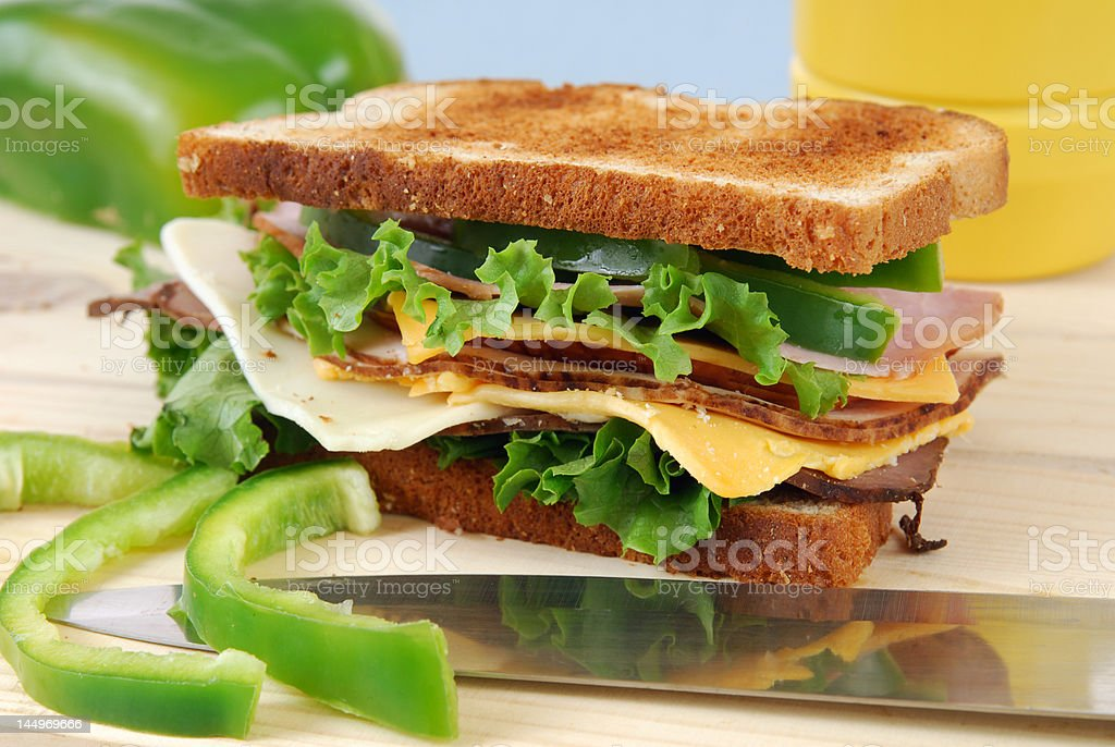 Toasted Sandwich royalty-free stock photo