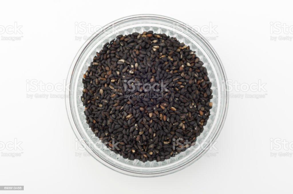 toasted sesame seeds stock photo