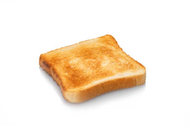 branco de pão torradas branco torrado fatia isolado - torrada - fotografias e filmes do acervo