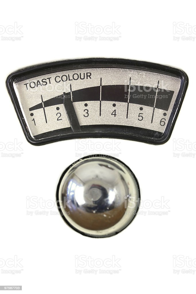 Toaster dial and chrome knob royalty-free stock photo
