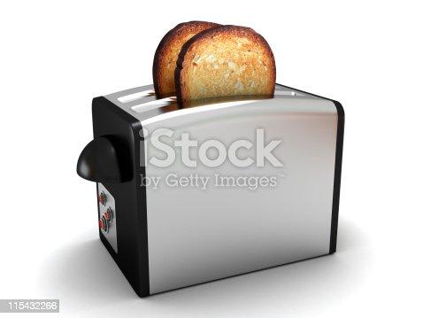 istock Toaster isolated on white 115432266