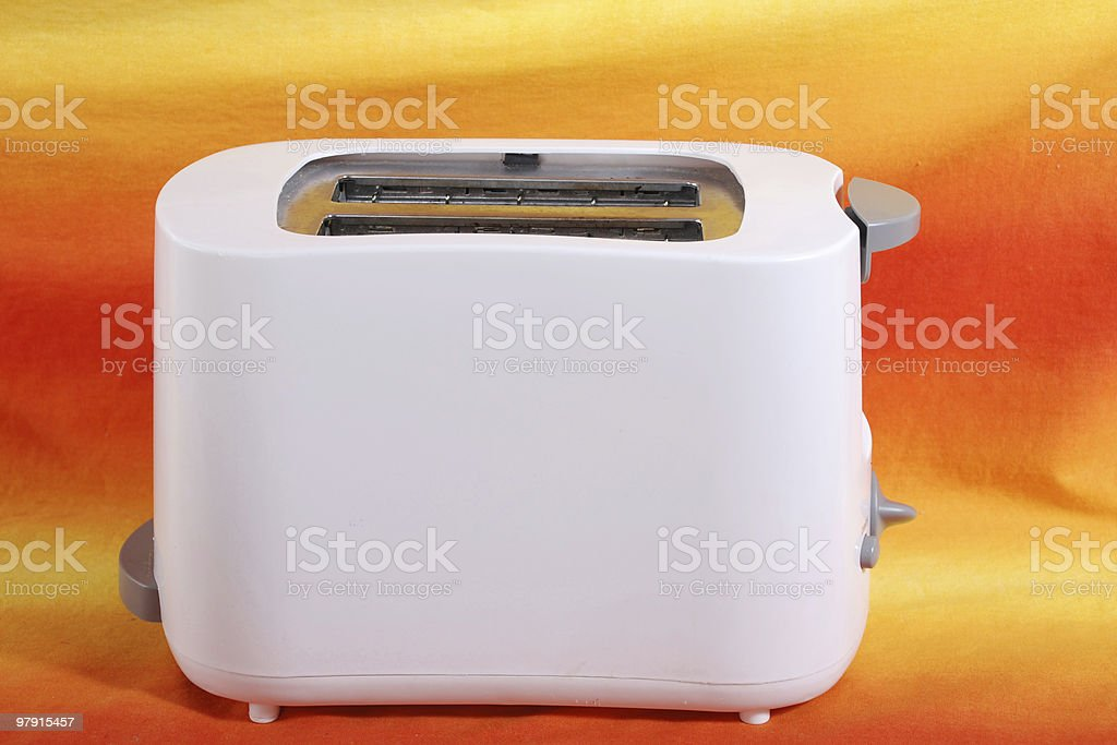 Toaster on a colorful background royalty-free stock photo