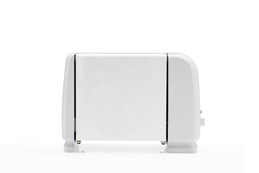 Toaster On White Background Stock Photo - Download Image Now
