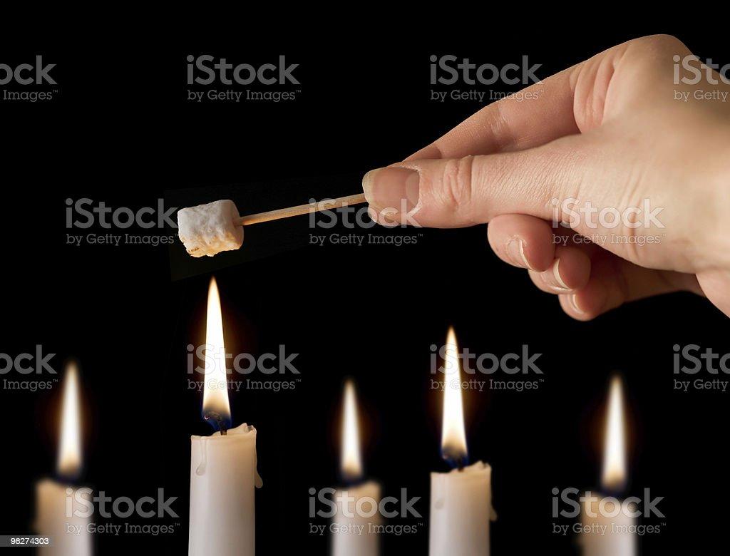 Toasting Mini Marshmallow royalty-free stock photo