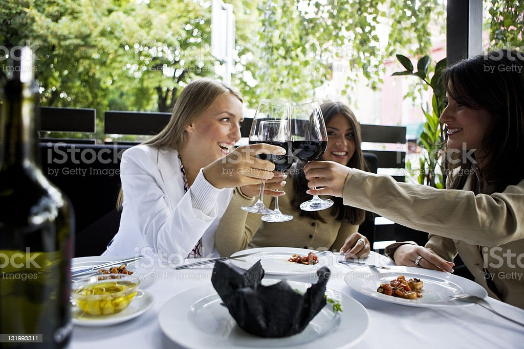 Toasting royalty-free stock photo