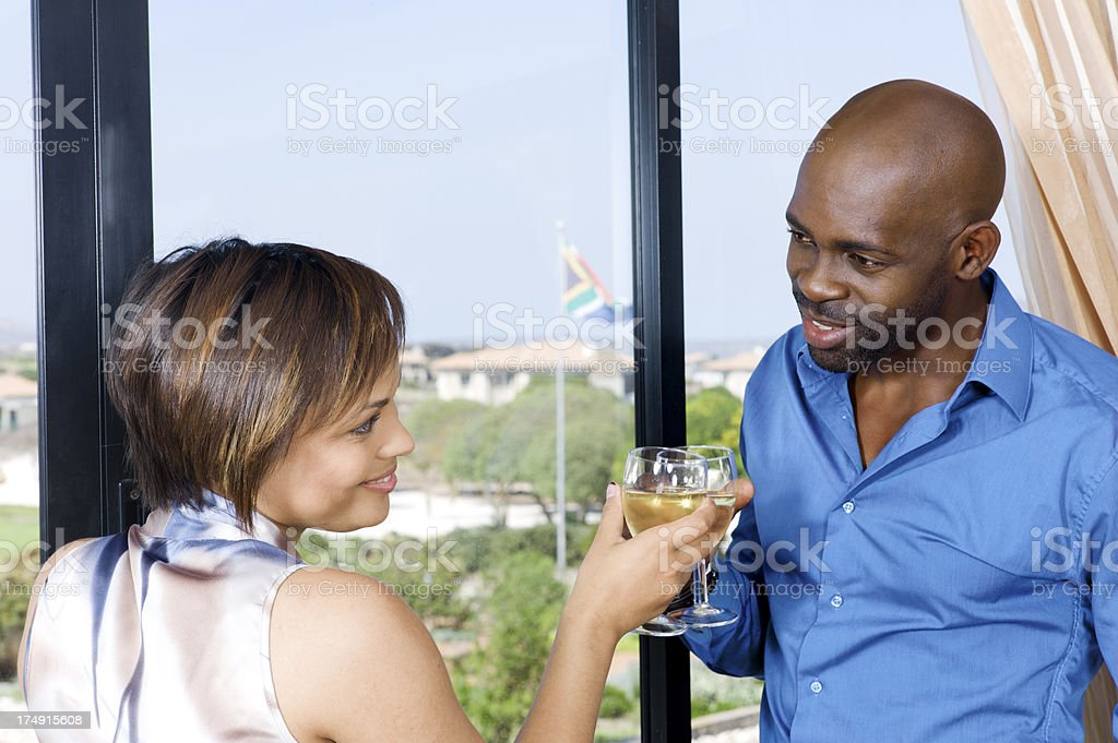 Toasting South Africa. royalty-free stock photo