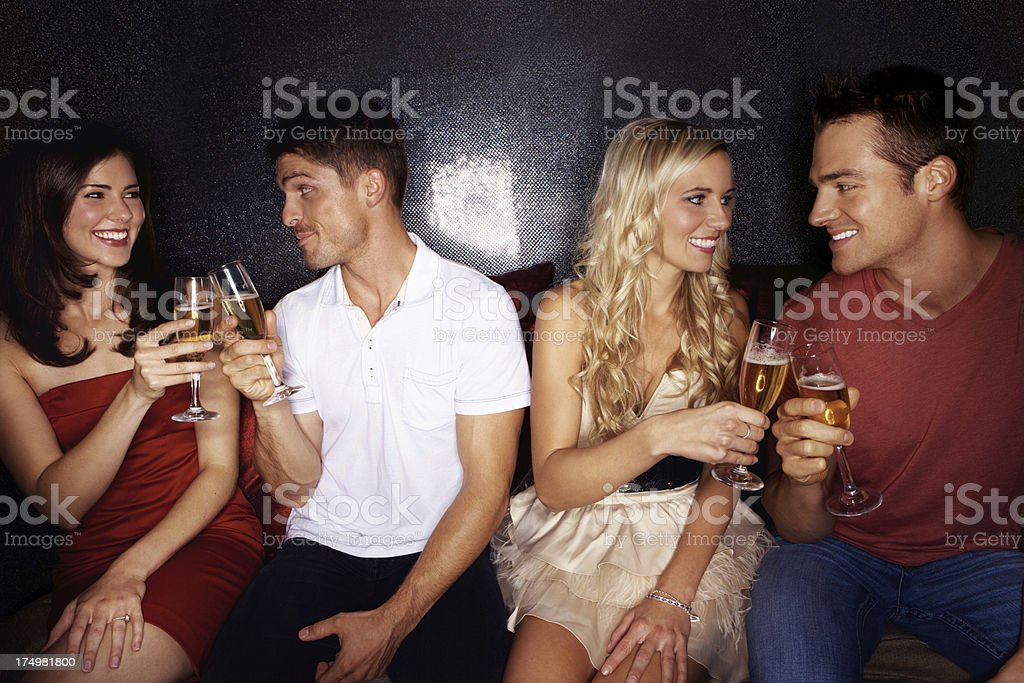 Toasting to new prospects! royalty-free stock photo