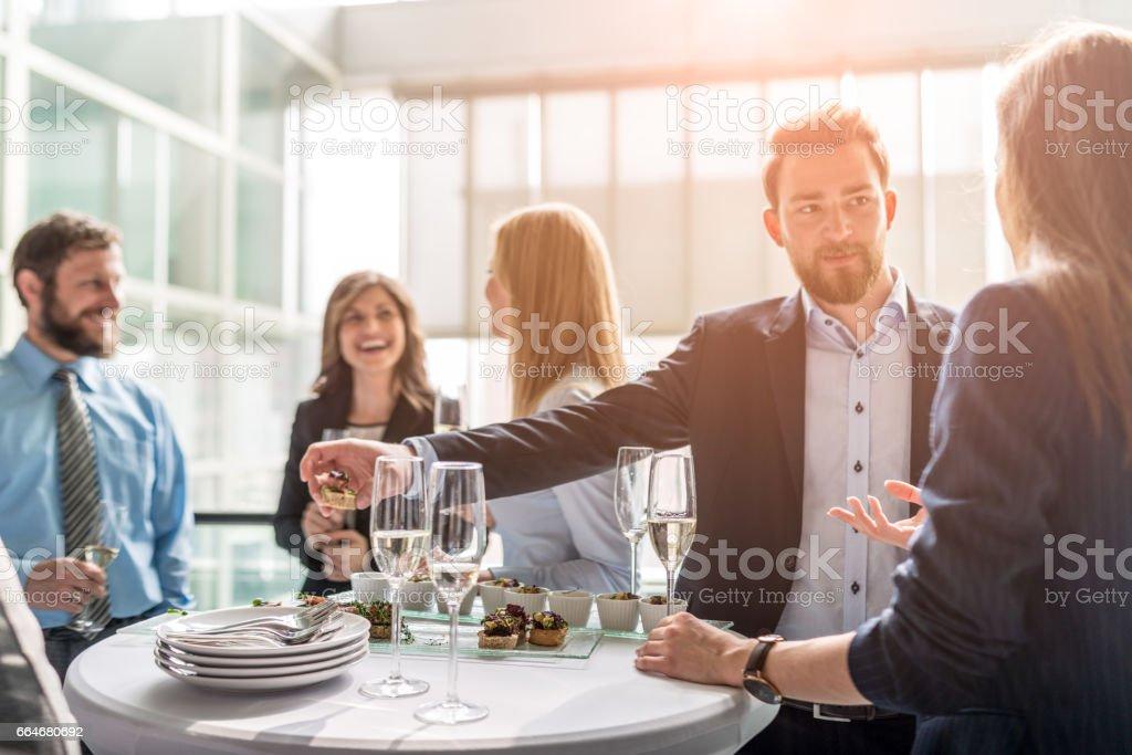 Toasting to success stock photo